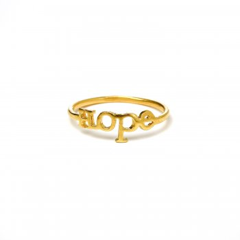 hope ring, gold dipped, size 5