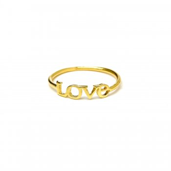 love ring, gold dipped, size 6