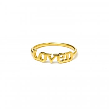 loved ring, gold dipped, size 6