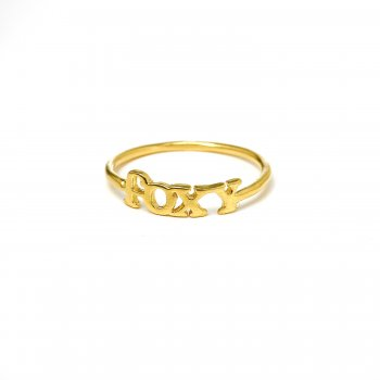 foxy ring, gold dipped, size 7