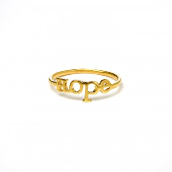 hope ring, gold dipped, size 7