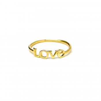 love ring, gold dipped, size 7