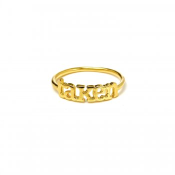 taken ring, gold dipped, size 7