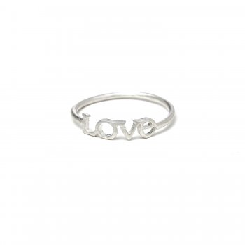 love ring, sterling silver, size 5