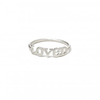 loved ring, sterling silver, size 5