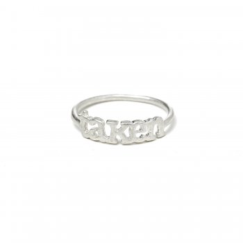 taken ring, sterling silver, size 5