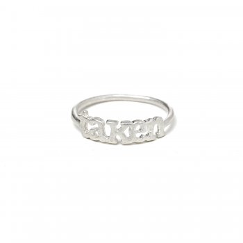 taken ring, sterling silver, size 6