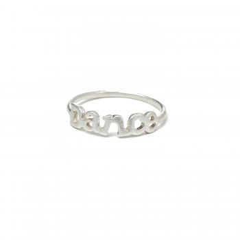 dance ring, sterling silver, size 8