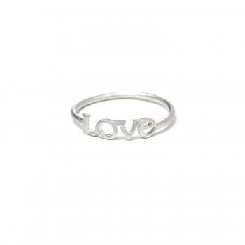 love ring, sterling silver, size 8