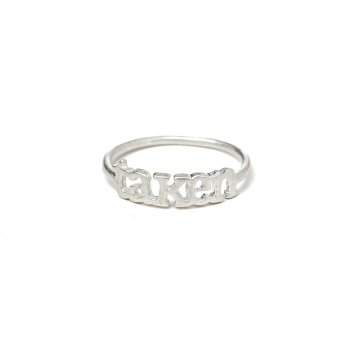 taken ring, sterling silver, size 8