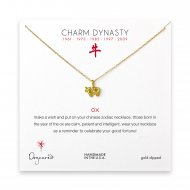 year of the ox charm necklace, gold dipped