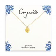 dogeared gold dipped initial necklace - letter e
