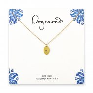 dogeared gold dipped initial necklace - letter m