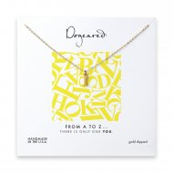 open i necklace, gold dipped -18 inches