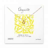 open q necklace, gold dipped -18 inches