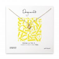 open u necklace, gold dipped -18 inches