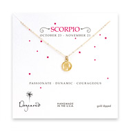 scorpio zodiac gold dipped necklace