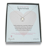 limited edition karma and kind heart sterling silver reminder necklace
