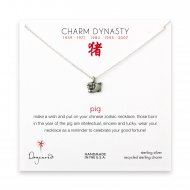 year of the pig charm necklace, sterling silver