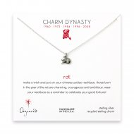 year of the rat charm necklace, sterling silver
