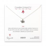 year of the ox charm necklace, sterling silver