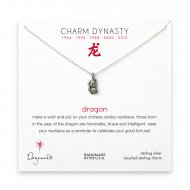 year of the dragon charm necklace, sterling silver