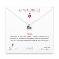 year of the horse charm necklace, sterling silver