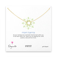 mom karma necklace, gold dipped - 18 inches