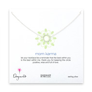 mom karma necklace, sterling silver - 18 inches