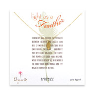 light as a feather small feather necklace, gold dipped
