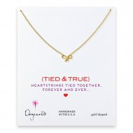 love collection bow necklace, gold dipped