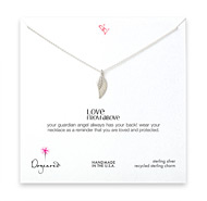 love from above angel wing necklace, sterling silver