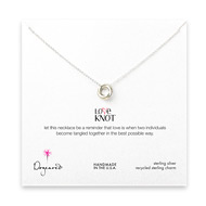 love knot necklace, sterling silver