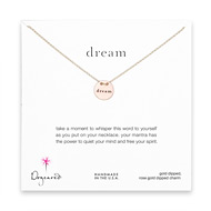 dream mantra rose gold dipped necklace