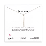 fearless mantra sterling silver necklace