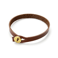 friendship single wrap chocolate leather bracelet