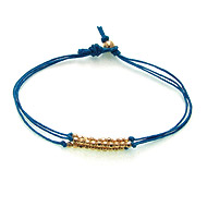 gold dipped sparkle bracelet, teal irish linen