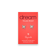dream teeny stud sterling silver butterfly earrings
