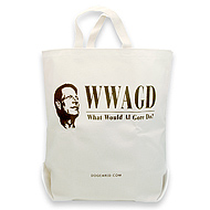 WWAGD-what would Al Gore do? reusable shopping bag