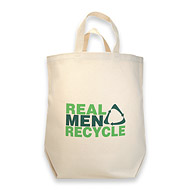 real men recycle reusable shopping bag