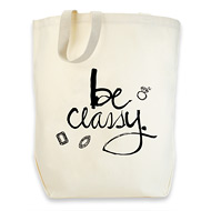 dogeared cotton tote - be classy