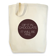 dogeared cotton tote - dip it in chocolate...