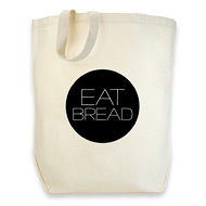 dogeared cotton tote - eat bread