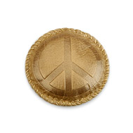peace gold leather paperweight