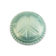 peace mint leather paperweight