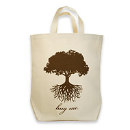lil zip hug me : Dogeared Jewels and Gifts :  dogeared jewels and gifts hug me canvas bag brown