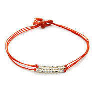 burnt orange sparkle bracelet