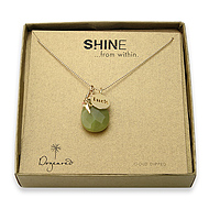 shine luck necklace with giant teardrop