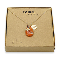 shine believe necklace with giant teardrop