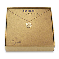 shine love necklace gold dipped